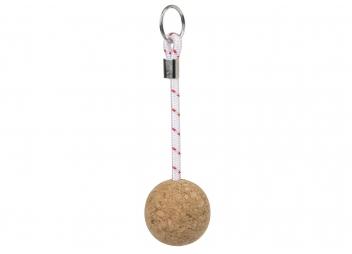 Cork Ball Key Charm