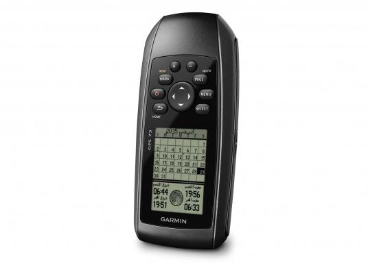 El GPS 73 es un GPS portátil dealta sensibilidad que detecta rápidamente las señales de satélite y determina su posición incluso en las condiciones más difíciles.  (Imagen 4 de 9)