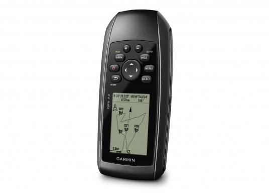 El GPS 73 es un GPS portátil dealta sensibilidad que detecta rápidamente las señales de satélite y determina su posición incluso en las condiciones más difíciles.  (Imagen 6 de 9)